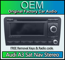 Audi A3 Sat Nav radio stereo, Audi BNS BNO satellite navigation, Code, Map Disc