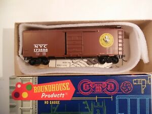 Roundhouse HO SCALE Freight Car, 40' Box Car, New York Central, Built up, Kadees
