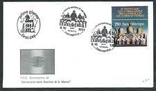1994 SAN MARINO FDC BASILICA SAN MARCO CONGIUNTA ITALIA NO TIMBRO ARRIVO  - RD13