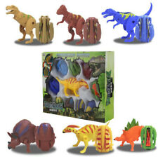 10X Dinosaur Egg Transformer Figures T-Rex Kids Toys Set Christmas Gift Box Pack