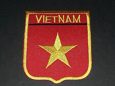 BACKPACKERS NATIONAL COUNTRY SHIELD FLAG SEW/IRON ON PATCH:- VIETNAM