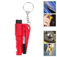 Herramienta de Rescate Seguridad Rompe Cristales Corta Cinturones Coches Rojo