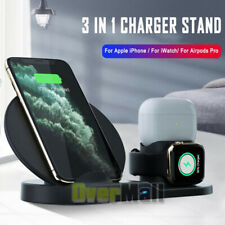 3in1 QI Wireless Charger Charging Station Dock For Apple Watch iPhone For Airpod