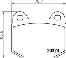 Mintex Freno Delantero Pad Set MDB1099-Totalmente Nuevo-Original - 5 Año De Garantía