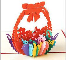 3D Pop Up Greeting Card - Flower Basket