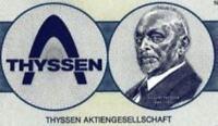 Thyssen AG Duisburg hist DM Aktie 1986 Düsseldorf Mülheim Essen ThyssenKrupp NRW