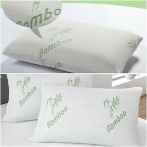 Luxury Bamboo Memory Foam Pillow Shredded  Anti Bacterial Head Neck Back Support