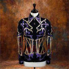 LARGE Showmanship Pleasure Horsemanship Show Jacket Shirt Rodeo Queen Western