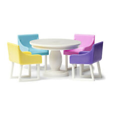 Eßzimmer Lundby Tisch Stühle farbig Lundby Basic
