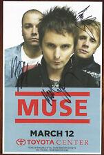 Muse autographed concert poster Matt Bellamy, Dominic Howard, Chris Wolstenholme