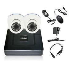 Home CCTV 4CH AHD Hybrid HDMI DVR 2PC 200W 1080P 2CH IR Security Camera System