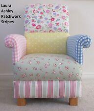 Laura Ashley Patchwork Fabric Adult Chair Lemon Stripes Spots Gingham Pink Blue