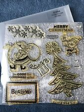 My Acrylix Christmas Cheer D1494 Close to my Heart Clear Stamps Santa Elf Tree