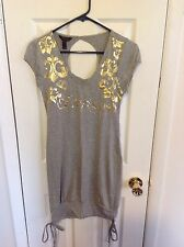 Dereon Dress Gray with Gold Size: Small