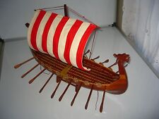 Viking Dragon boat high quality hand made wooden model ship 24""