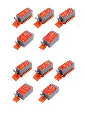 10 Ink Cartridges for Canon iP90 iP90V Pixma BCI-15BK BCI-16 - 6 Black & 4 Color