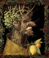 Large Oil painting Giuseppe Arcimboldo - The Winter Root portrait on canvas