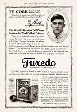 1915 Ty Cobb Tuxedo Pipe Tobacco Baseball 8 x 10 Reproduction Print Ad