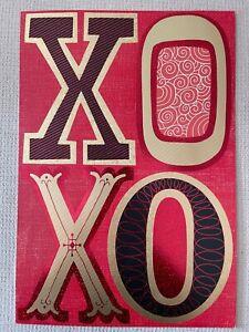 """Love XOXO Greeting Card Giant Hallmark Card 16x11"""" (A13)NEW"""