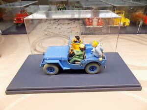 voiture tintin 1/24  la jeep bleue  n° 4  + livret