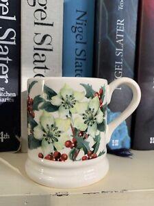Emma Bridgewater Hellebores & Holly Christmas Half Pint Mug