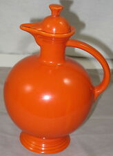 "Vintage Fiesta Radioactive Red Orange 10-1/2"" Carafe with Lid Fiestaware HLC"
