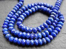 """HAND CUT LAPIS RONDELLES, 4.5mm, 13"""", 110 beads"""