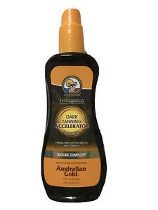 Australian Gold Dark Tanning Spray Gel Outdoor/indoor 237ml UV Activated.