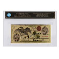 1863 Year 100 Dollar Colorful 24k Gold Foil Gold Banknote Birthday Gifts