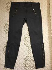 "🎼J Brand Women's Size 30 ""Vin Navy"" Zippered  Moto Jeans Skinny Ankle EUC #5"