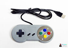 SUPER NINTENDO SNES Style-Controller Gamepad USB per PC e Mac