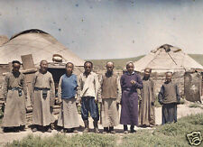 Inner Mongolia China Mongols Chinese Nomads Yurt 1921 7x5 Inch Reprint Photo