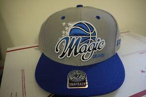 Authentic Orlando Magic 47 Brand Snapback Adjustable Fit Gray/Blue Cap Brand New