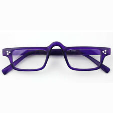Unisex Retro Purple Rectangle Full Rim Reading Glasses Eyeglasses Readers +200