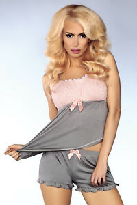 LIVCO CORSETTI Model 102 Luxury Super Soft Cami Top and Matching Shorts Set