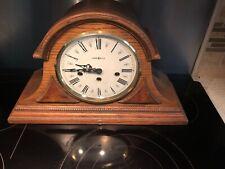 HOWARD MILLER MANTEL CLOCK Model 613-102 w/ 340-020 Bell Atlantic Promo Clock