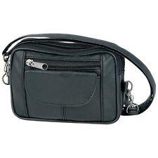 New Small Purse Black Leather Adjustable Cross Body Strap Bag Shoulder Handbag