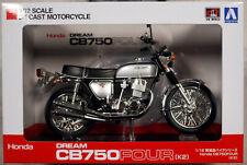 Honda CB 750 Four K2 Silver Metallic Fertigmodell 1:12 Aoshima 106587