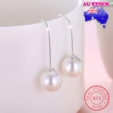 Wholesale 925 Sterling Silver White Shell Pearl Hook Earring Gift