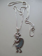 Sterling Silver Kokopelli Pendant and s/s 20 inch Box Chain