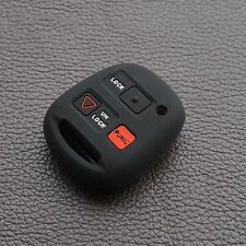 Black key fob skin cover case for Lexus LS LX NX RC RX straight key chain