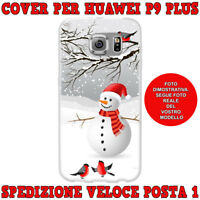 Cover case custodia protettiva in tpu per Huawei P9 PLUS fantasi PUPAZZO DI NEVE
