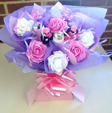 LADIES MOTHERS SOCK GIFT BASKET BOUQUET REALLY PRETTY UNIQUE GIFT BIRTHDAY