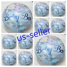 10 pc Baby Boy Balloon Bouquet Decoration Welcome Its a Shower  Foil Party
