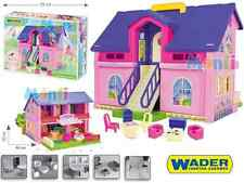 Girls Carry Along Pink Dolls House Play Set with Furniture Ready Gift