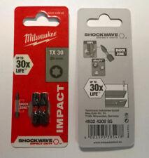 Milwaukee 1VE TX30 25mm Torx Shockwave Impact Duty Screwdriver Bits Driver Bit