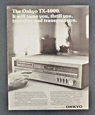 1981 ONKYO TX-4000 Quartz Synthesized Tuner Amplifier Stereo Vintage Print Ad