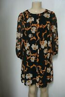 NWT EVA MENDES COLLECTION BLACK MULTI FLORAL SABRINA SHIFT DRESS SIZE SMALL