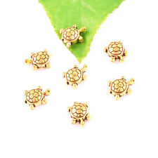 30ps Antique gold Loose Cute Small Turtle Spacer Beads For Jewelry Findings 9mm