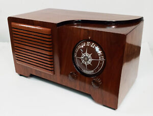 Old Antique Wood Automatic Vintage Tube Radio -Restored & Working Deco Table Top